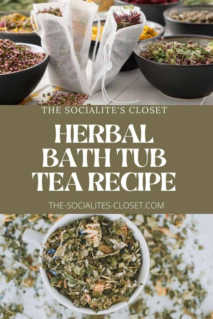 Try this bath tea recipe for aging skin. It's one of my favorite herbal bath remedies to use in the evening. Try this natural beauty recipe.